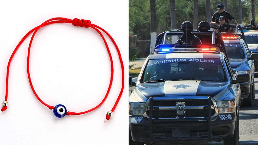 Patrullas policiacas brindarán pulseritas rojas del mal de ojo para salvaguardar a la ciudadanía