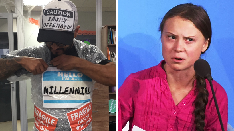 Millennial que hace berrinche de todo afirma que Greta Thunberg no la representa