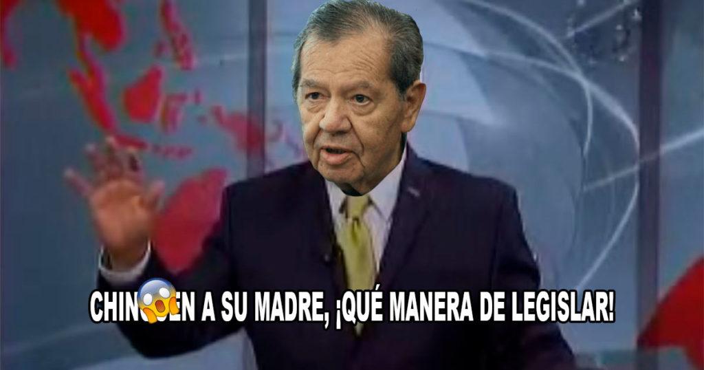 """Momento exacto en el que Muñoz Ledo les dice """"ching…asumadre"""" a todos los políticos (VIDEO)"""