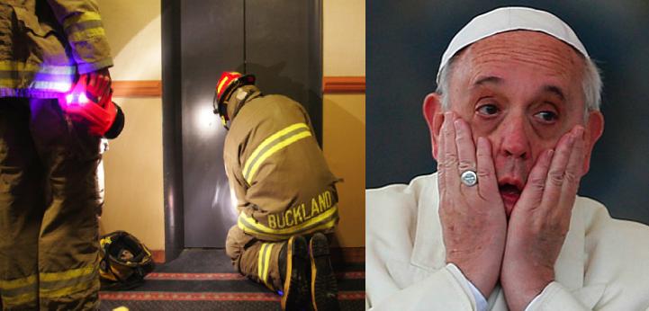El Papa Francisco se quedó atorado media hora en el elevador del Vaticano