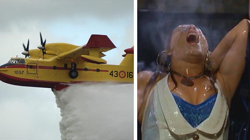 Estos padrecitos lanzaron agua bendita de un avión para quitarte lo borracho y lujurioso