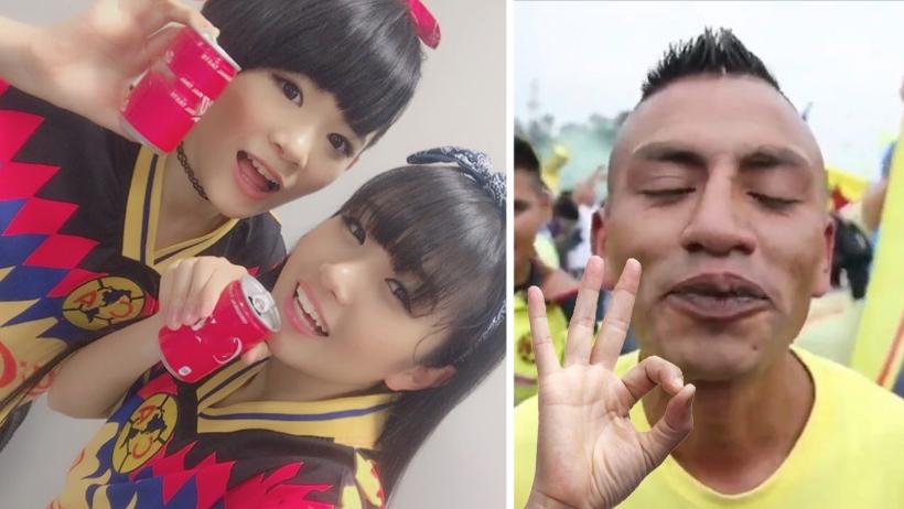 El sueño del Perro Rabioso se hizo realidad: dos japonesas cantando el himno del América