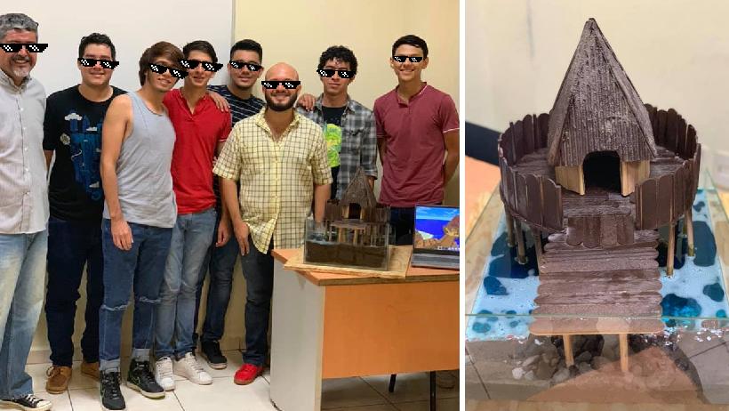 Arquitectos de Colima nivel: Estudiantes hacen horrible maqueta digna de dioses