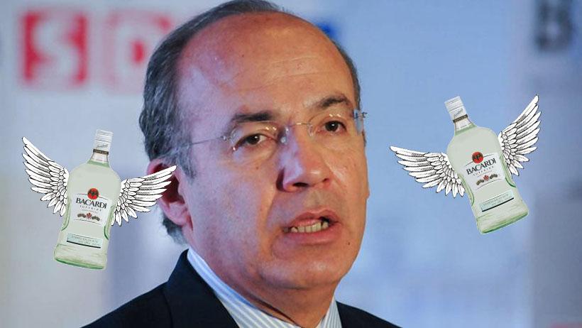 Felipe Calderón le condonó impuestos a Bacardí