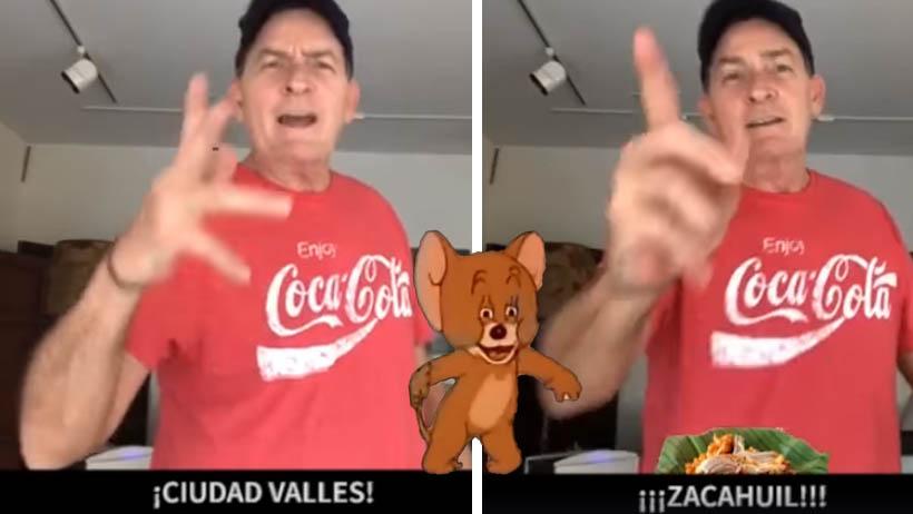 Charlie Sheen felicitó al alcalde de Ciudad Valles, por algún motivo