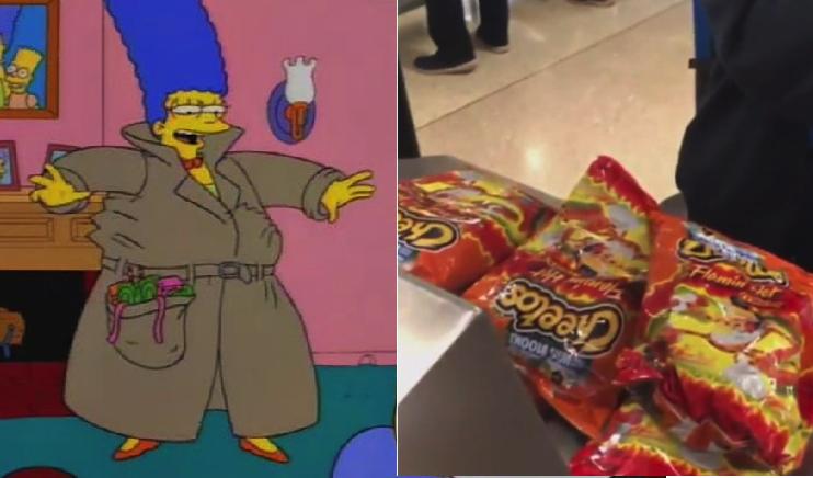 Esta influencer fue detenida en el aeropuerto por traficar con ¡20 bolsas de Cheetos!