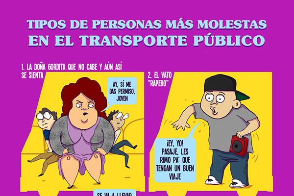 Tipos de personas más molestas en el transporte público
