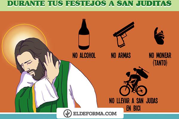 Qué hacer y qué no hacer durante tus festejos a San Juditas