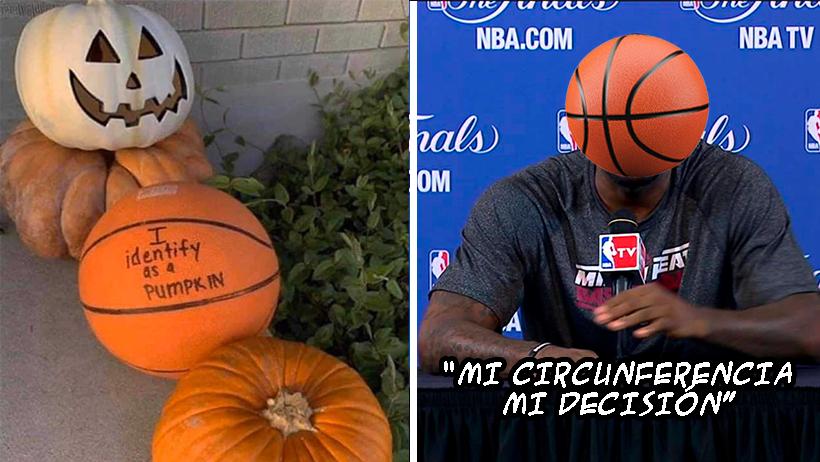 Balones de basketball progres exigen ser identificados como Calabazas de Halloween