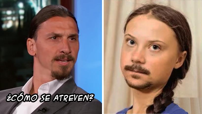 Confirman que Greta Thunberg todo el tiempo fue Zlatan Ibrahimovic rasurado
