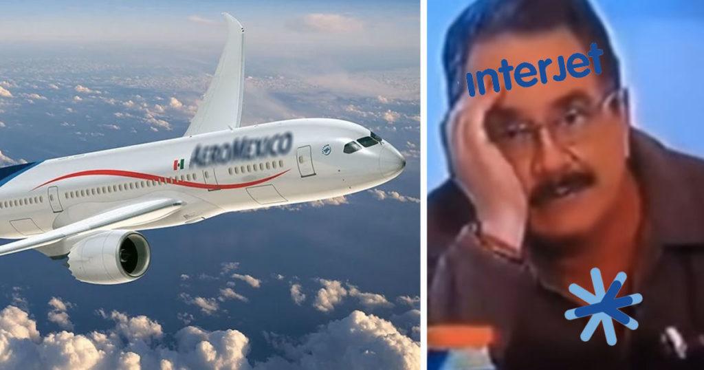 Interjet ridículo nivel: Usan avión de Aeroméxico en su comercial de 14 aniversario
