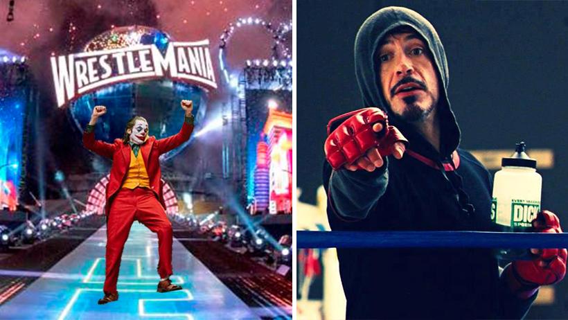 Confirman pelea entre Joaquin Phoenix y Robert Downey Jr. por el Oscar en Wrestlemania