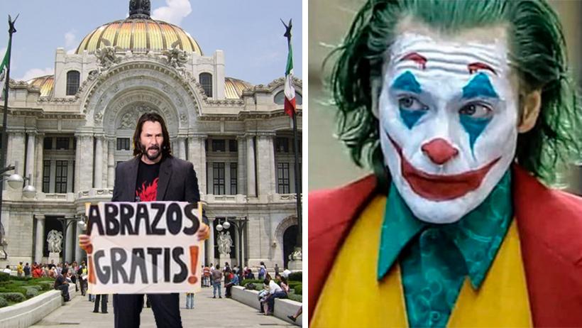 Keanu Reeves protesta con abrazos que el internet lo cambió por Joaquin Phoenix
