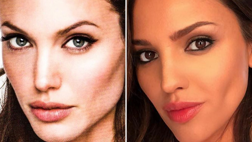¿Otra operación? Filtran fotos de Eiza González como gemela de Angelina Jolie