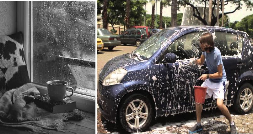 Personas que amen los días nublados tendrán que lavar los coches de los demás
