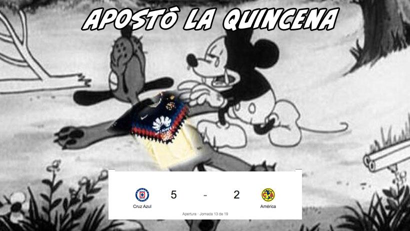 Los mejores 17 memes de la goliza del Cruz Azul al América anoche
