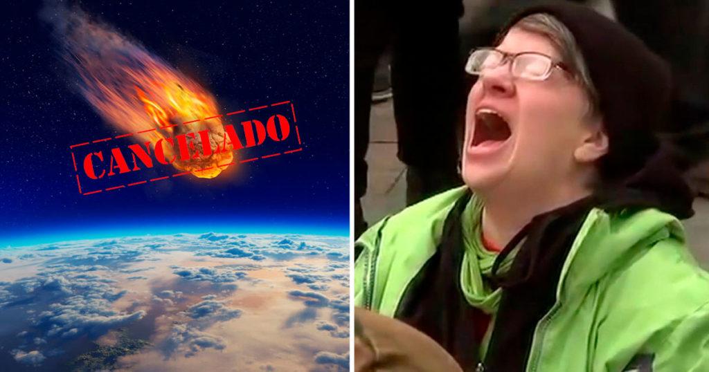 Millennials devastados al descubrir que el meteorito no acabó con sus vidas