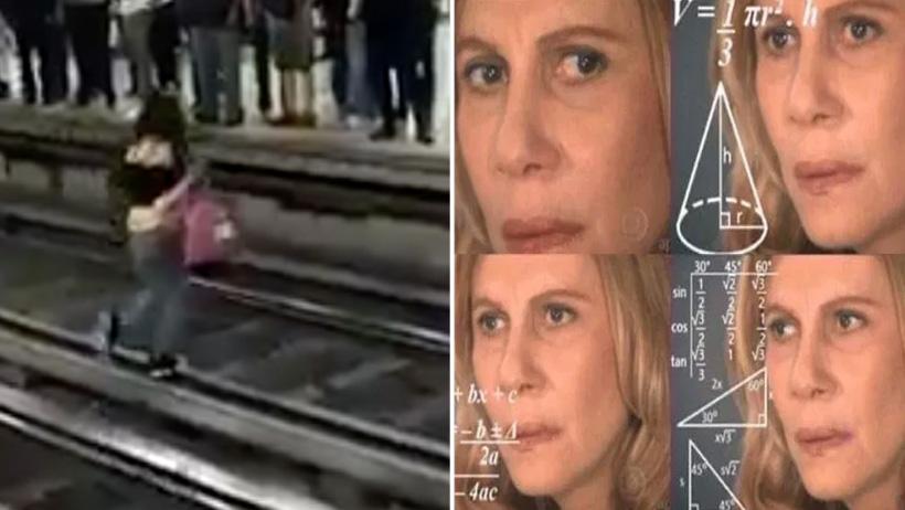Si pisas las vías te electrocu… Mujer camina sobre vías del Metro y no le pasa nada