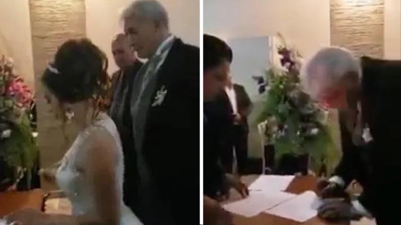 Rabo verde nivel: Mireles de 60 años se casa con su community manager de 21