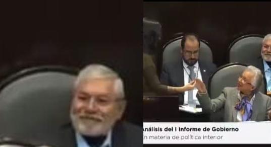 Momento Histórico: Rolan churro a Doña Olga Sánchez Cordero en plena Cámara de Diputados