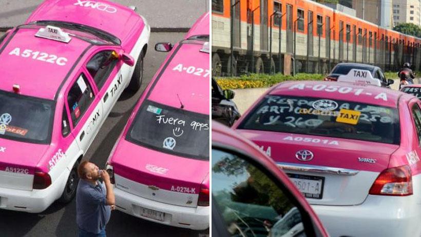 Taxistas iban a manifestarse en Tlalpan, pero ninguno llega hasta allá y cancelan