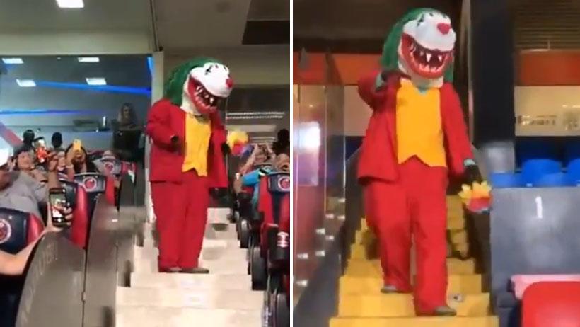 Allá, en Veracruz, donde la mascota de los Tiburones se disfraza del Joker
