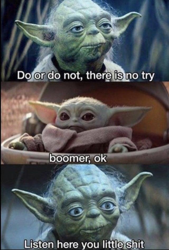 Baby Yoda Ok Boomer Meme