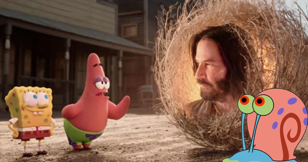 Ya salió el trailer de la película de Bob Esponja y trae de todo, hasta un Keanu Reeves