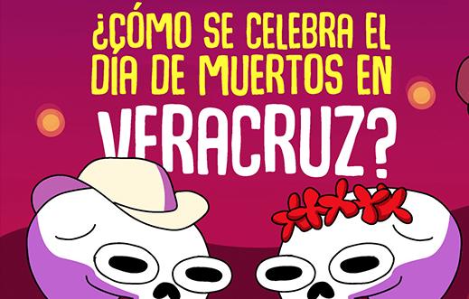 ¿Cómo se celebra el día de muertos en Veracruz?