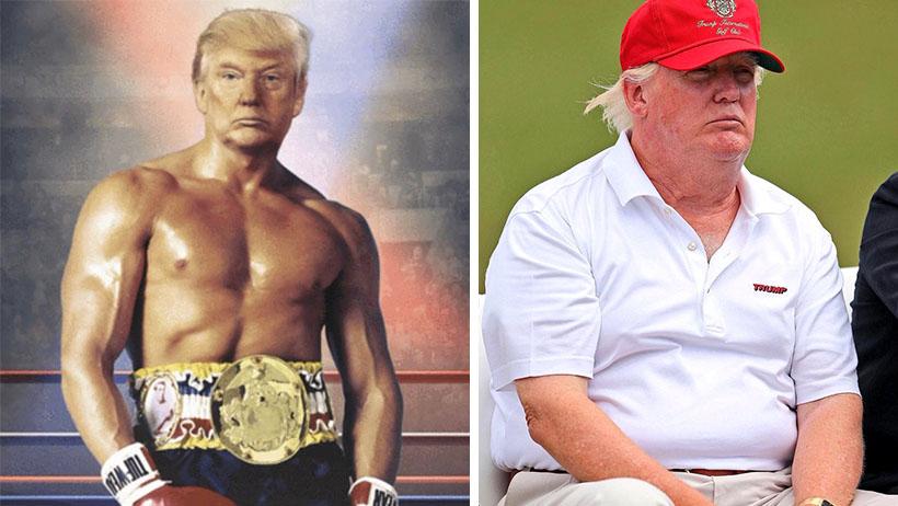 Donald Trump tuitea imagen photoshopeada donde se ve bien mamey