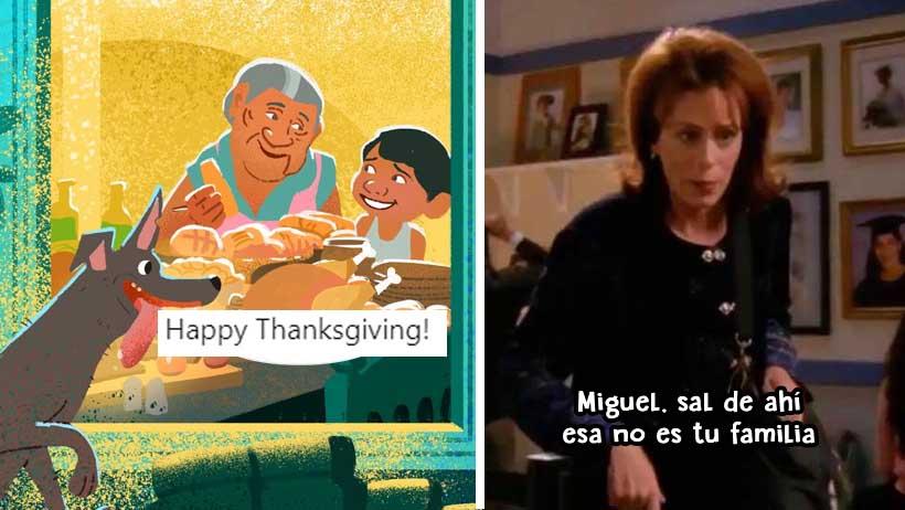 El niño de Coco celebra Thanksgiving