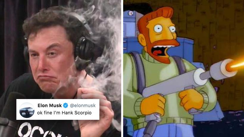 ¿Tenemos nuevo súper villano? Elon Musk admitió ser Hank Scorpio de Los Simpson