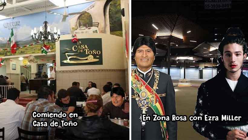 Evo Morales y sus viajes en la CDMX