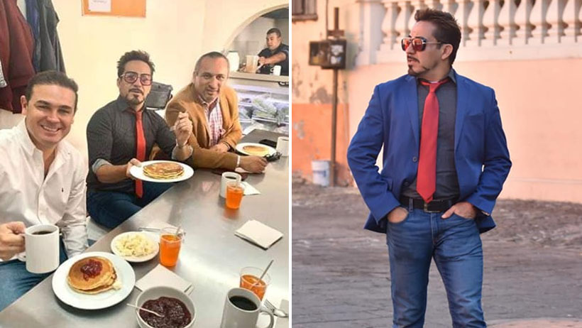 Sabes que la inseguridad está muy fuerte en Guanajuato cuando traen a Tony Stark