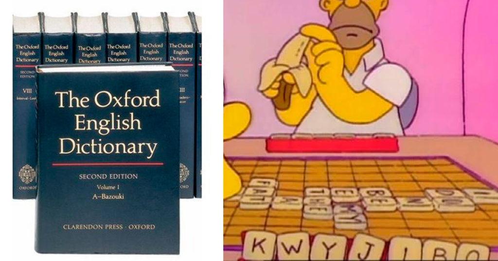 """Diccionario de Oxford reconoce la palabra """"Kwyjibo"""" como """"Gran simio norteamericano de poco seso, calvo y sin barbilla"""""""