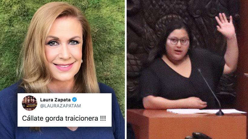 """Laura Zapata aplicó un viernes de ahorcar """"gordas traicioneras"""" contra senadora de Morena"""