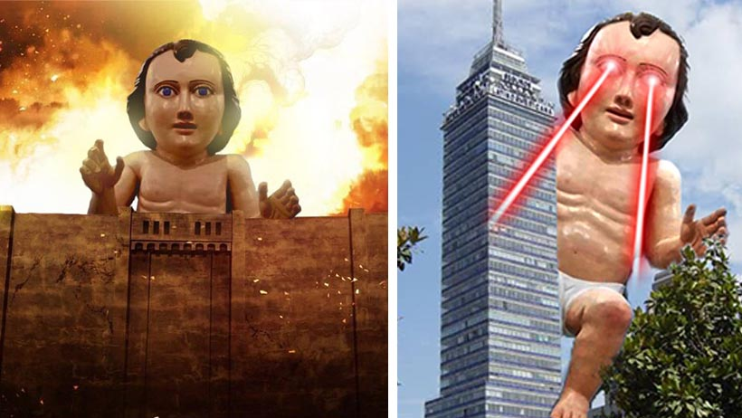Memes niño Dios gigante
