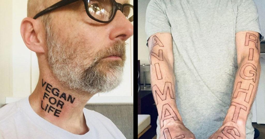 ¿Y tu amigo es vegano? Pues Moby (¿quién?) se tatuó todo esto para demostrar que no come carne