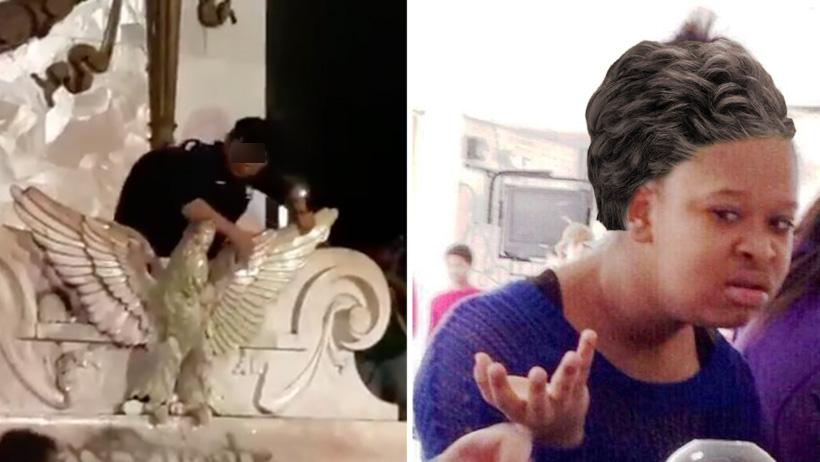 Mamá del sujeto que limpió el monumento desearía que así se lavara la cola