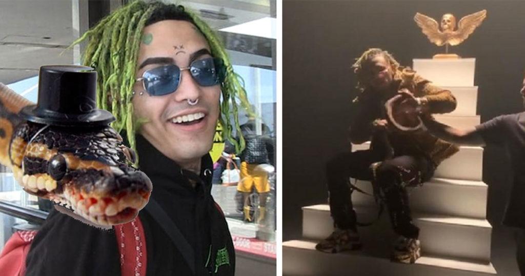 Este rapero fue mordido por una serpiente en plena grabación y el Internet se lo agradece