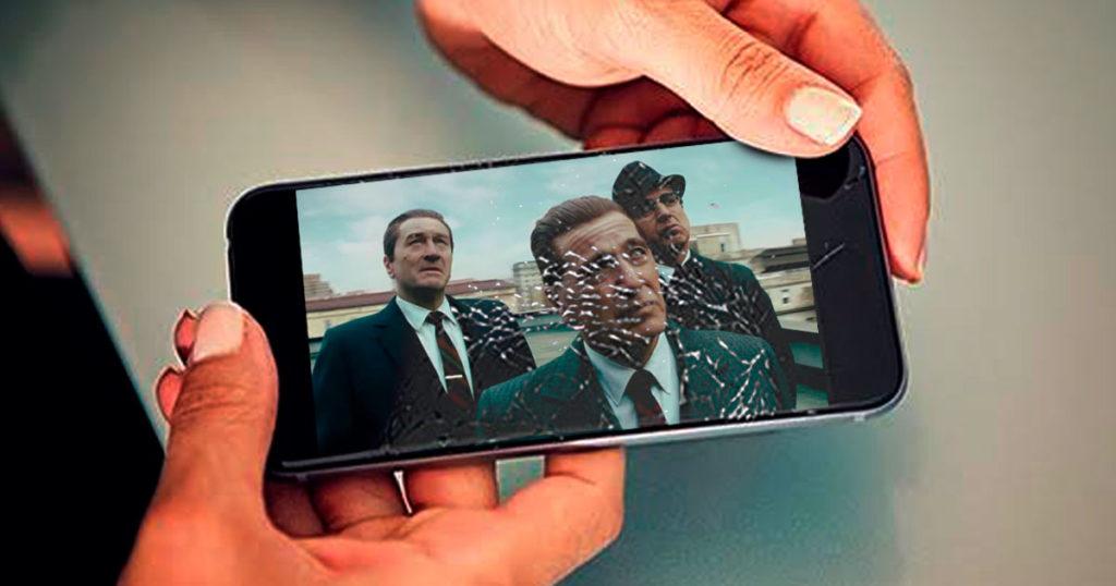 Persona que vio The Irishman en su celular roto asegura que es una verdadera lección de cine