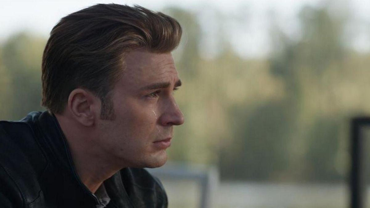 Captain America crying Avengers Endgame