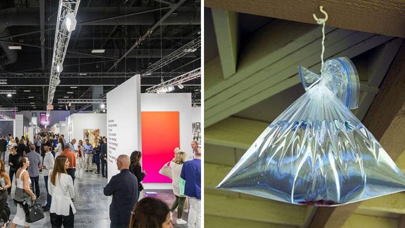 Bolsa de agua para espantar moscas se vende a cien mil dólares en galería de arte