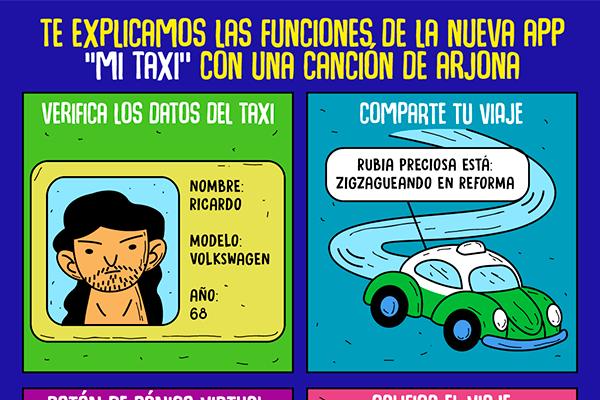 """Te explicamos las funciones de la nueva app """"Mi taxi"""" con una canción de Arjona"""
