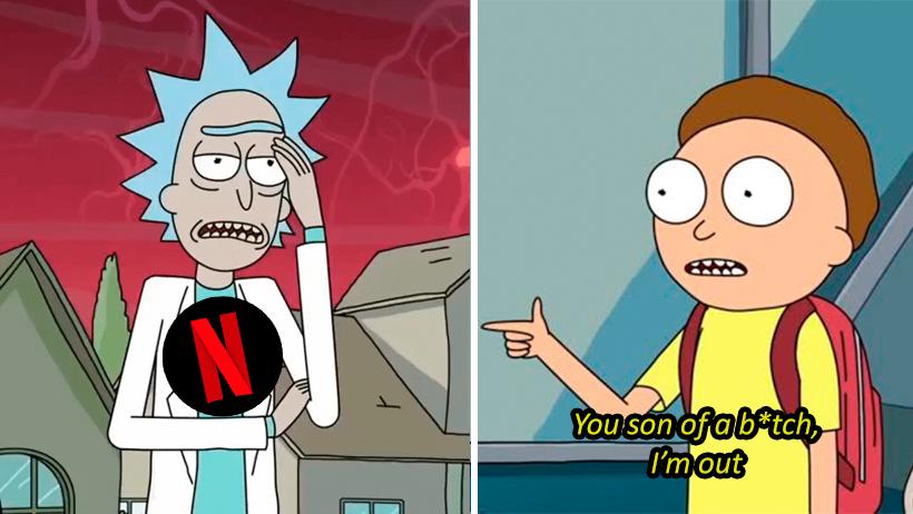 Vas de mal en peor: Netflix sube 4ta temporada de Rick and Morty llena de censuras