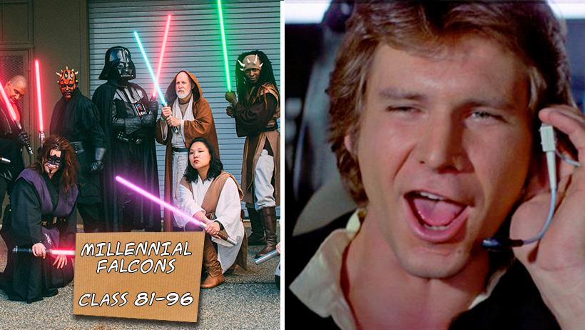 Fans de Star Wars nacidos entre 1981 y 1996 serán conocidos como Millennial Falcons