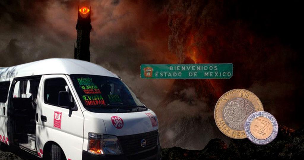 Más Mordor que nunca: le suben dos pesos más al transporte en el Edomex