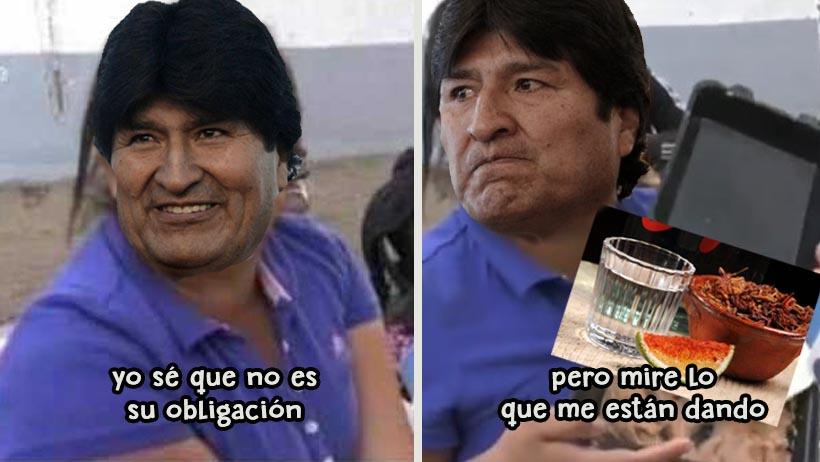 Evo Morales le hace el feo a un buen mezcal