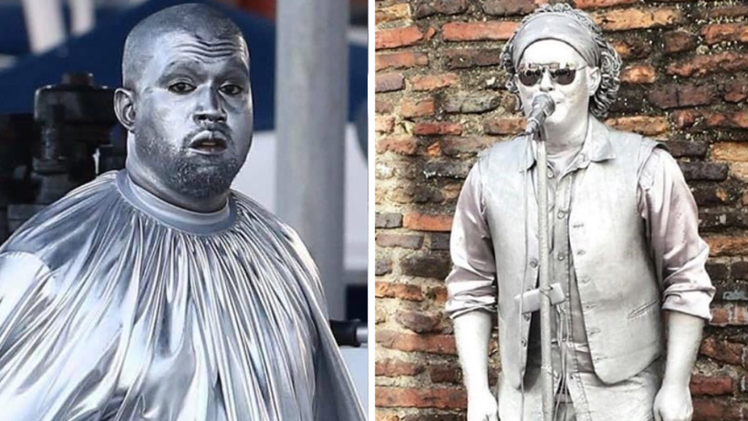 Kanye West ofició misa en papel aluminio y Diosito lo bendijo con memes