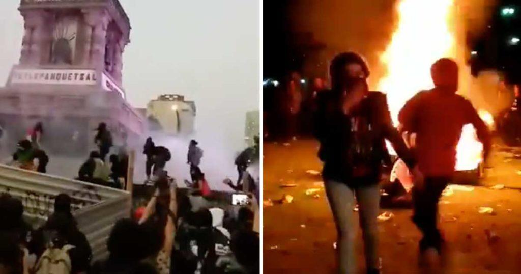 """Hombres que decían """"así no son las formas de protestar"""" incendian batería de Evanescence en el Knotfest"""